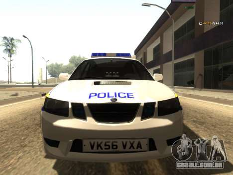 SAAB 9-2 Aero Turbo Generic UK Police para GTA San Andreas esquerda vista