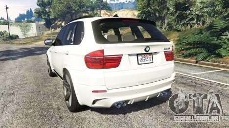 GTA 5 BMW X5 M traseira vista lateral esquerda