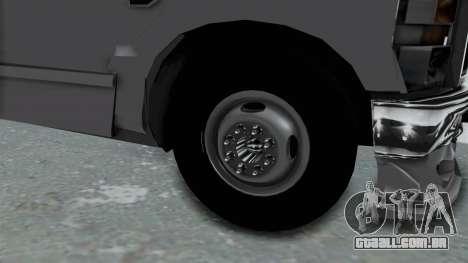 Ford F-350 para GTA San Andreas vista traseira