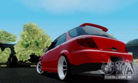 Subaru Impreza WRX STi Wagon Fox 2007 para GTA San Andreas traseira esquerda vista
