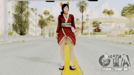 DoA5 Ultimate Kokoro Halloween 2014 Kitty para GTA San Andreas segunda tela