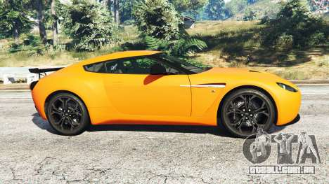 GTA 5 Aston Martin V12 Zagato v1.2 vista lateral esquerda