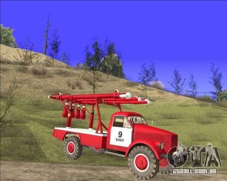 GÁS 63 APG-14 caminhão de bombeiros para GTA San Andreas esquerda vista