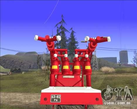 GÁS 63 APG-14 caminhão de bombeiros para GTA San Andreas vista direita