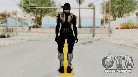 Mass Effect 3 Miranda Short Hair Ajax Armor para GTA San Andreas terceira tela