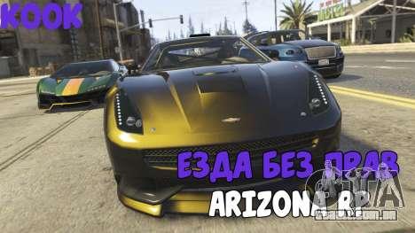 Andar sem uma licença ARIZONA RP para GTA San Andreas