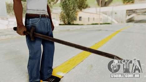 Skyrim Iron Sword para GTA San Andreas
