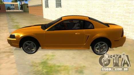 2003 Ford Mustang para GTA San Andreas esquerda vista