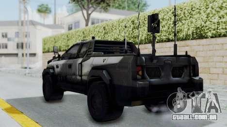 Advanced Warfare Tactical Pickup para GTA San Andreas esquerda vista