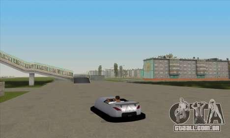 O carro para o circuito para GTA San Andreas esquerda vista