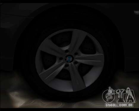 BMW 530xd stock para GTA San Andreas vista interior