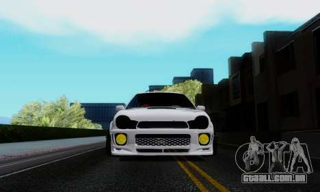 Subaru Impreza WRX STi Wagon Stens para GTA San Andreas vista traseira
