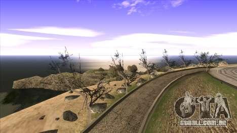 A construção da ponte, e uma densa floresta para GTA San Andreas décimo tela