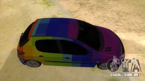 Iranian Peugeot 206 Sport para GTA San Andreas vista interior