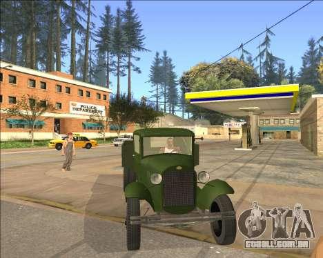 GAZ AA Camião para GTA San Andreas traseira esquerda vista