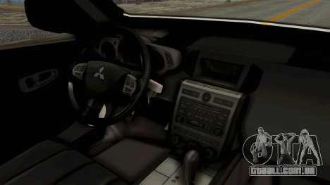 Mitsubishi Pajero Policia Nacional Paraguaya para GTA San Andreas traseira esquerda vista