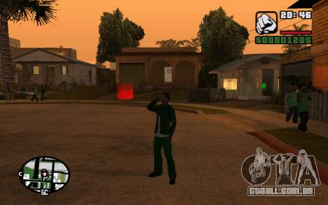 CJ Animation ped para GTA San Andreas sexta tela