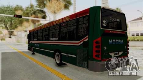 Metalpar Iguazu MB-1718L-SB Linea 59 para GTA San Andreas esquerda vista