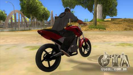 Honda Twister Stunt para GTA San Andreas vista direita