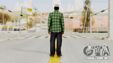 GTA 5 Families Gang Mamber 3 para GTA San Andreas terceira tela