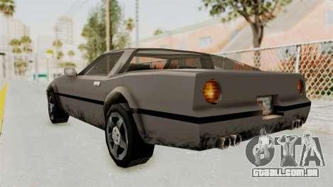 Beta VC Banshee para GTA San Andreas traseira esquerda vista