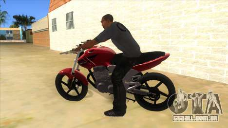 Honda Twister Stunt para GTA San Andreas esquerda vista