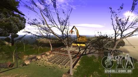 A construção da ponte, e uma densa floresta para GTA San Andreas