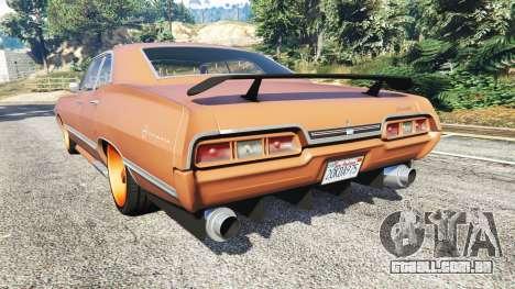 GTA 5 Chevrolet Impala 1967 traseira vista lateral esquerda