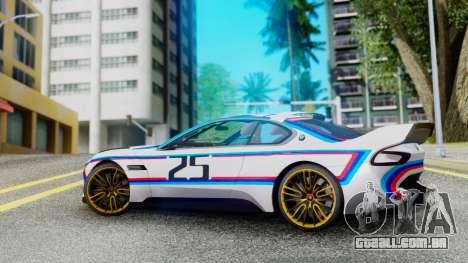2015 BMW CSL 3.0 Hommage R para GTA San Andreas esquerda vista