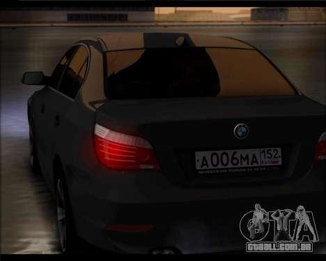 BMW 530xd stock para GTA San Andreas traseira esquerda vista