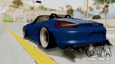 Porsche Boxster Liberty Walk para GTA San Andreas esquerda vista