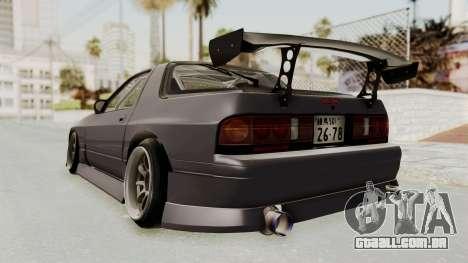 Mazda RX-7 1990 (FC3S) Cordelia Glauca Itasha para GTA San Andreas esquerda vista