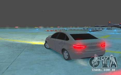 Lada Vesta para GTA 4 traseira esquerda vista