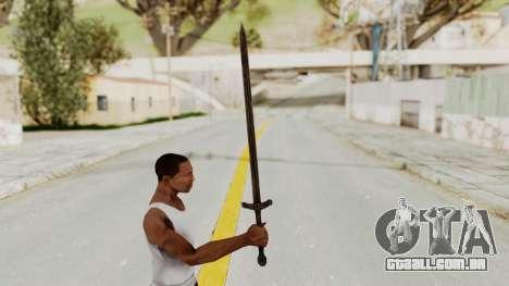 Skyrim Iron Sword para GTA San Andreas terceira tela