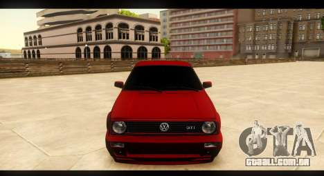 Volkswagen Golf GTI Mk2 para vista lateral GTA San Andreas