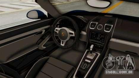 Porsche Boxster Liberty Walk para GTA San Andreas vista interior