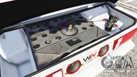 GTA 5 BMW M3 (E30) 1991 v1.3 frente vista lateral direita