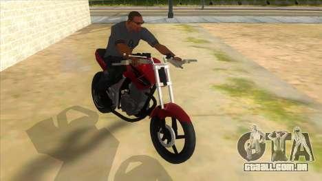 Honda Twister Stunt para GTA San Andreas vista traseira