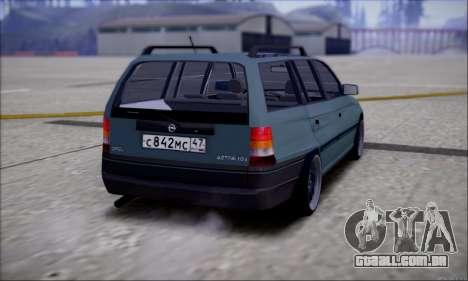 Opel Astra para GTA San Andreas traseira esquerda vista