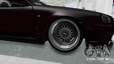 Nissan Skyline R34 GTR 2002 V-Spec II S-Tune para GTA San Andreas vista traseira