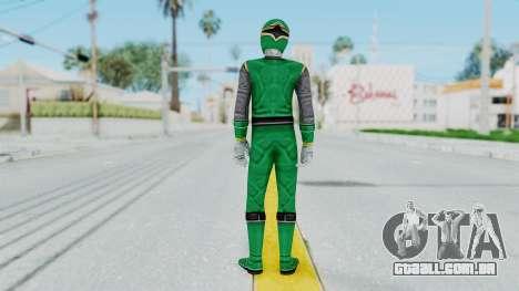 Power Rangers Ninja Storm - Green para GTA San Andreas terceira tela