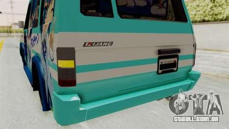 Toyota Kijang Grand Extra Itasha para GTA San Andreas vista inferior