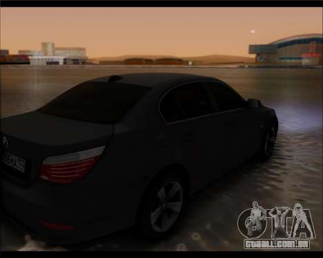 BMW 530xd stock para GTA San Andreas esquerda vista