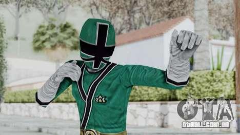 Power Rangers Samurai - Green para GTA San Andreas