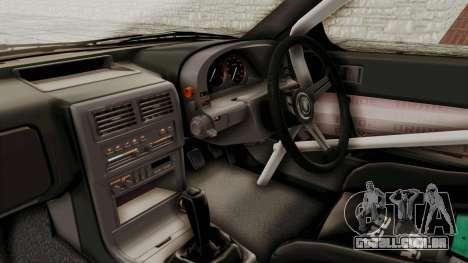 Mazda RX-7 1990 (FC3S) Cordelia Glauca Itasha para GTA San Andreas vista interior