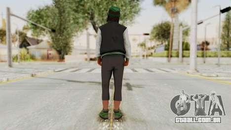GTA 5 Families Gang Mamber 2 para GTA San Andreas terceira tela