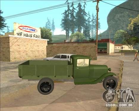 GAZ AA Camião para GTA San Andreas esquerda vista