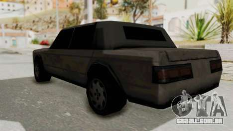Greenwood from Manhunt para GTA San Andreas traseira esquerda vista