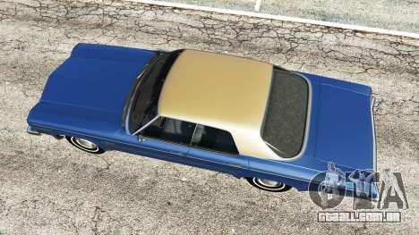 GTA 5 Oldsmobile Delta 88 1973 v2.0 voltar vista