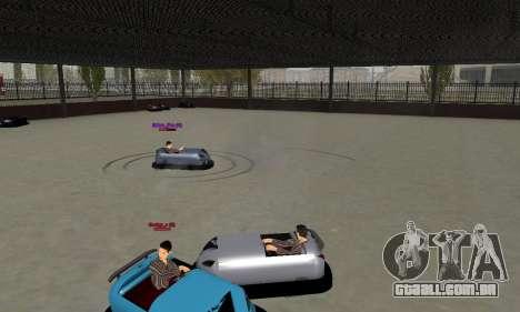 O carro para o circuito para GTA San Andreas traseira esquerda vista